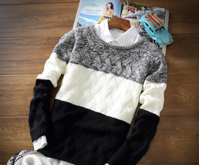 winter pullover sweater brand knitting long sleeve O-neck Slim Korean fashion clothes men sweater MY13 - CelebritystyleFashion.com.au online clothing shop australia