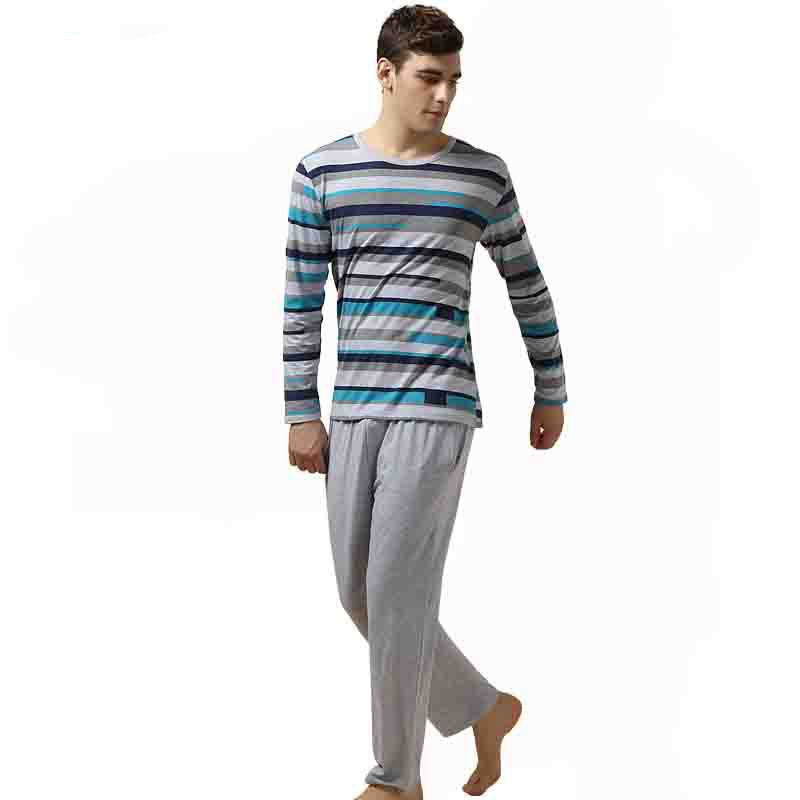 ea6e2a273 Qianxiu Pajamas Casual Stripes Men Pajama Set Plus Size Sleepwear Moda –  CELEBRITYSTYLEFASHION