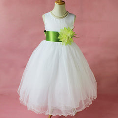 Flower Girl Petals Dress Children Bridesmaid Toddler Elegant Dress Pageant Wedding Bridal Dress - CelebritystyleFashion.com.au online clothing shop australia
