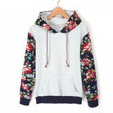 Autumn Winter Women Casual Thick Warm Floral Printed Hoodies Sweatshirts Long Sleeve Hooded Long Coat Jackets - CelebritystyleFashion.com.au online clothing shop australia