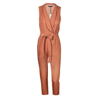 Sexy v-neck tie sleeveless office lady rompers spring fashion long jumpsuits - CelebritystyleFashion.com.au online clothing shop australia