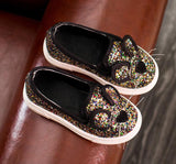 New arrive Fashion Baby Kids Sequins Cartoon Mouse Casual Shoes For Girls Chlidren Footwear size 21-30 Flats bling shoes - CelebritystyleFashion.com.au online clothing shop australia