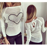 Fashion Women Spring Sweater Long Sleeve Heart Print O Neck Love Pattern Thin Casual Knitting Women Fall Pullover Sweater - CelebritystyleFashion.com.au online clothing shop australia