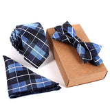 Polyester Silk Neckties & Handkerchief & Bow Tie Set 6cm Skinny Ties for Men Pocket Square Towel Bowtie Wedding Set - CelebritystyleFashion.com.au online clothing shop australia