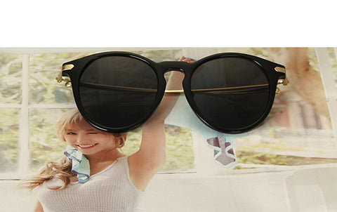 RFOLVE Newly Round Women Sun glasses Fashion Brand Design Imitation Wood Frame Sun glasses Oculos de Sol Masculino UV400 - CelebritystyleFashion.com.au online clothing shop australia