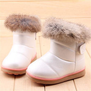EU21-30 Winter Warm Wool Cloth With Soft Nap Of Rabbit Hair Fur Rubber Soles Children Snow Boots Kids Shoes For Girls Boots - CelebritystyleFashion.com.au online clothing shop australia