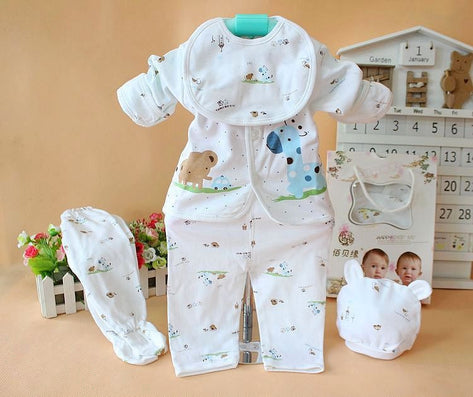 (5pcs/set)Newborn Baby 0-6M Clothing Set Brand Baby Boy/Girl Clothes 100% Cotton Cartoon Underwear baby set - CelebritystyleFashion.com.au online clothing shop australia