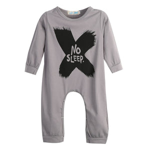 Cotton Baby Girls Boys long sleeve Romper Jumpsuit One-pieces No Sleep to the Moon Outfits - CelebritystyleFashion.com.au online clothing shop australia