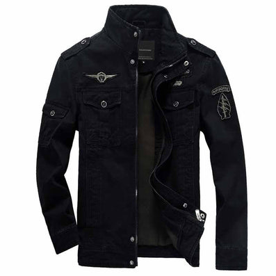Men jacket jean military Plus size 6XL army soldier cotton Air force one male clothing Spring Autumn Mens jackets Asian size 331 - CelebritystyleFashion.com.au online clothing shop australia