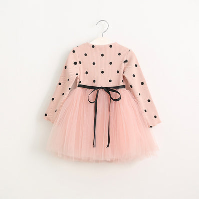 Girls Dress Casual Girls Dress Children Clothing Ball Gown Dot Print Kids Clothes Girls Dresses Princess Dress - CelebritystyleFashion.com.au online clothing shop australia