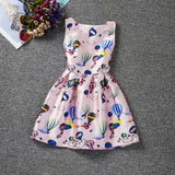 Girl Dress Summer Style Sleeveless Printed Kid Dresses Girls Clothes Party Princess Vestidos Nina 6 7 8 year birthday Dress - CelebritystyleFashion.com.au online clothing shop australia