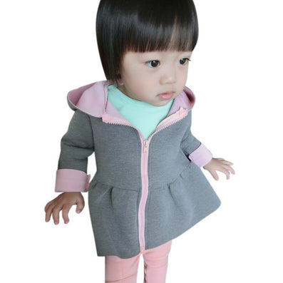 Girls Jacket Animal Rabbit Design Cotton Zipper Spring Autumn Baby Girl Coat Children Jackets Kids Coat N6456 - CelebritystyleFashion.com.au online clothing shop australia