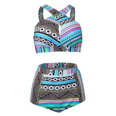 Plus Size Swimwear High Waist Swimsuit High Neck Bikini Cross Bikinis Women Swimsuit Top Bathing suit female swimwear 5XL - CelebritystyleFashion.com.au online clothing shop australia
