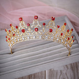 Luxury Wedding Bridal Crystal Tiara Crowns Princess Queen Pageant Prom Rhinestone Veil Tiara Headband Wedding Hair Accessory - CelebritystyleFashion.com.au online clothing shop australia