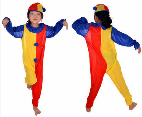 Children Kids Baby Jumpsuits & Rompers+Hat+Nose Halloween Carnival Clown Circus Cosplay Costumes Performance Clothing Party - CelebritystyleFashion.com.au online clothing shop australia