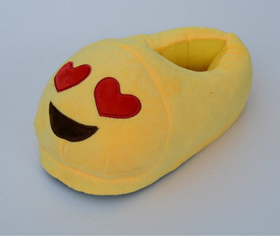 1DreamShining Emoji Slippers Cartoon Plush Slipper Home With The Full Expression Women/ Men Slippers Winter House Shoes One Pair