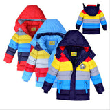 High quality Down cotton Boys Jacket,Boy Coats Baby boys clothes Winter striped Christmas jackets Girls coat For New Year Nov.11 - CelebritystyleFashion.com.au online clothing shop australia