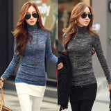 Women Winter Fashion Slim Sweater Top Solid Color Turtleneck Long Sleeve Bottoming Knitted Pullovers Sweater Jumper Shirt - CelebritystyleFashion.com.au online clothing shop australia