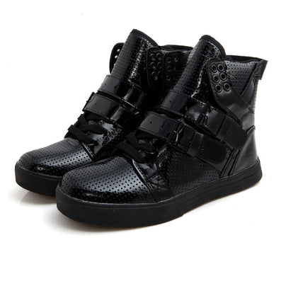 Patent PU Leather Men Fashion Shoes Spring Autumn Summer Ankle Boots Shoes Men High Top Men Boots Flats Shoes - CelebritystyleFashion.com.au online clothing shop australia