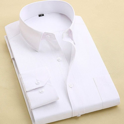 2059688e Long Sleeve Slim Men Dress Shirt Brand New Fashion Designer High Quality  Solid Male Clothing Fit