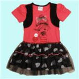 A-line dress children clothes summer cotton shortless printed cute cartoon with red bow girl dress nova kids 2015 - CelebritystyleFashion.com.au online clothing shop australia