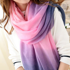 Fashion Winter Scarves Women Brand cachecol Gradient scarf Designer Cotton shawls Scarf - CelebritystyleFashion.com.au online clothing shop australia