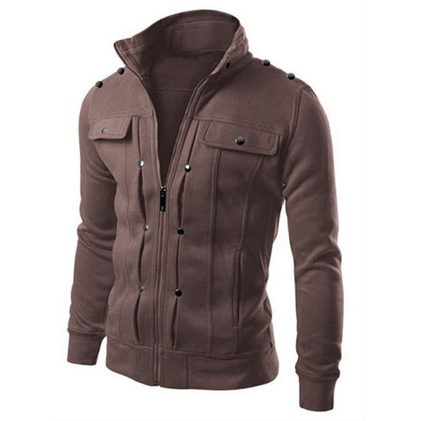 591a29327 Fashion Winter Jacket Men Casual Hooded Thick Padded Jacket Zipper Slim  Outwear Cotton down Coat Warm