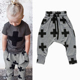 Baby Boy Girls Cotton Cross Pattern Bottoms Harem Pants Hip-Pop Trousers For 2-6Y - CelebritystyleFashion.com.au online clothing shop australia
