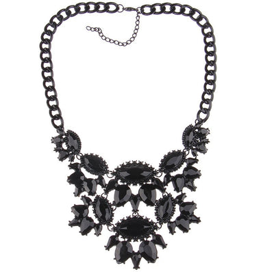 Fashion Women Gun Black Statement Necklaces Pendant Collier Female Collar Choker Maxi Boho Vintage Jewelry Chunky Necklace - CelebritystyleFashion.com.au online clothing shop australia