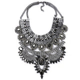 Fashion Women Necklace Pendant Collier Femme Bib Statement Collar Vintage Choker Big Chunky Black Maxi Silver Crystal - CelebritystyleFashion.com.au online clothing shop australia