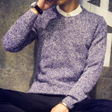 fashion men sweater autumn winter solid color casual Knitting round neck pullovers pull homme J1538 - CelebritystyleFashion.com.au online clothing shop australia