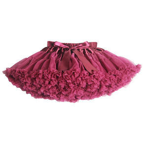 Girls Fluffy 2-18 Years Chiffon Pettiskirt Solid Colors tutu skirts girl Dance Skirt Christmas Tulle Petticoat - CelebritystyleFashion.com.au online clothing shop australia