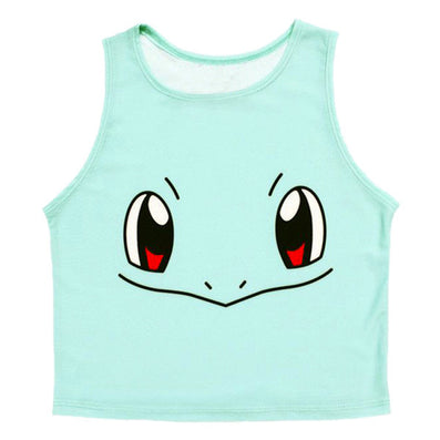 Fashion Women Cartoon Short Halter Top Tank Top Sleeveless Bustier Crop Tops T-Shirt Shirts - CelebritystyleFashion.com.au online clothing shop australia