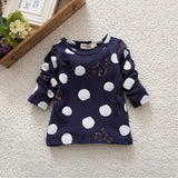 New Cute Kid Girls Clothing Polka Dot Tops T-Shirt Cotton Long Sleeve Tees - CelebritystyleFashion.com.au online clothing shop australia
