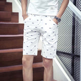 brand mens shorts print casual Men's shorts fashion cotton shorts shorts khaki white green - CelebritystyleFashion.com.au online clothing shop australia