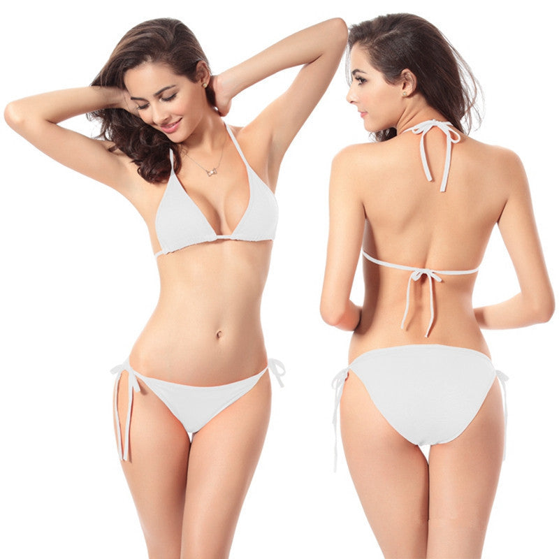 White / LSummer New Sexy Swimwear Thong Women Bikini Bottom Only Beach Swim Trunks Swimsuit Bow Women's Swimming Suit