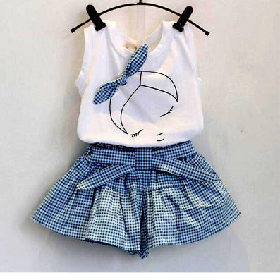 baby girl clothing sets fashion Cotton print shortsleeve T-shirt and skirts girls clothes sport suits - CelebritystyleFashion.com.au online clothing shop australia