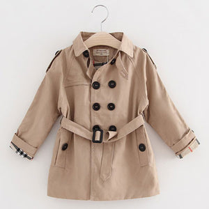 Fashion Girls Boys Trench Clothing Children Wind Jacket Autumn Winter Child Casual Coat Turn-down Collar Outwear - CelebritystyleFashion.com.au online clothing shop australia