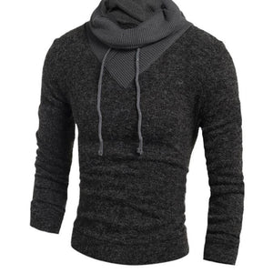 Turtleneck Sweater Stylish Knitted Long Sleeve High-Neck pullover Sweaters Men Sweater Male Sweaters Pullover-Size XXL - CelebritystyleFashion.com.au online clothing shop australia
