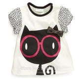 Baby Girls T-Shirts Clothing Children Toddler Kids Clothes Short Tees t Shirts Girls Summer