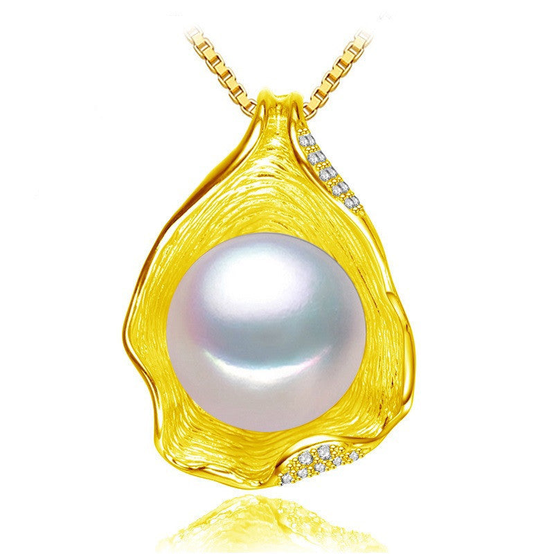 Whitecharm Shell design Pearl Jewelry,Pearl Necklace Pendant, 925 sterling silver jewelry ,fashion necklaces for women
