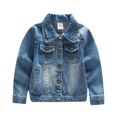 Fashion Boys Demin Jackets Cotton Children's Jackets Boys Jean Coats 2-10Y Baby Kids Outwear Boys Clothes Autumn SC416Denim BlueCELEBRITYSTYLEFASHION