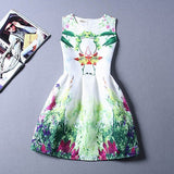 Summer Dress Fashion Print Flower Vest Girls Dresses Brand Designer Princess Party For Baby Kids Clothes Girl Dress Vestido - CelebritystyleFashion.com.au online clothing shop australia