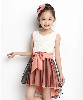 Girl Dress New Fashion Patchwork Mermaid Sleeveless Lace Kids Dresses For 4-15Y Children Girls Summer Clothes - CelebritystyleFashion.com.au online clothing shop australia