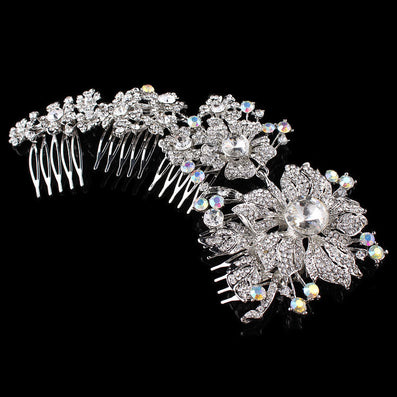 Tiara Noiva Winsome Wedding Hair Comb Bridal Accessories Vintage Comb, Rhinestone White, Side Tiara, Crystals - CelebritystyleFashion.com.au online clothing shop australia