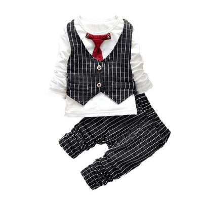 Fashion Baby Boy Clothes Sets Gentleman Suit Toddler Boys Clothing Set Long Sleeve Kids Boy Clothing Set Christmas Outfits - CelebritystyleFashion.com.au online clothing shop australia