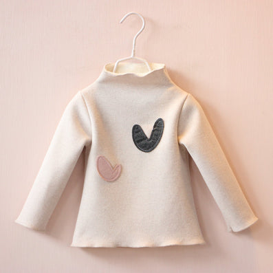 children's clothes girls cotton long sleeve love heart T-shirt kids fashion tops tees t shirts for 2-7T - CelebritystyleFashion.com.au online clothing shop australia