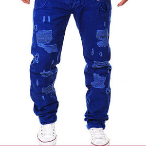 hip hop brand ripped jeans denim Men Jeans,male famous brand men's jeans straight trousers - CelebritystyleFashion.com.au online clothing shop australia