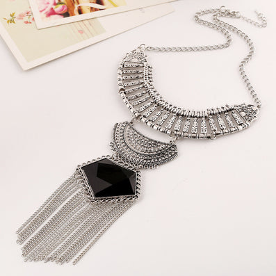 Necklaces Colar Big Necklace Pendants Long Vintage Jewelry Woman Maxi Boho Tassel Bohemian Ethnic Choker Statement Necklace - CelebritystyleFashion.com.au online clothing shop australia