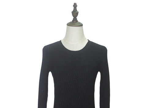 Colorful Apparel Womens Autumn Winter Cashmere Blended Sweater O-Neck Pullovers Long Sleeve Jumpers Women's Knitted Sweaters - CelebritystyleFashion.com.au online clothing shop australia